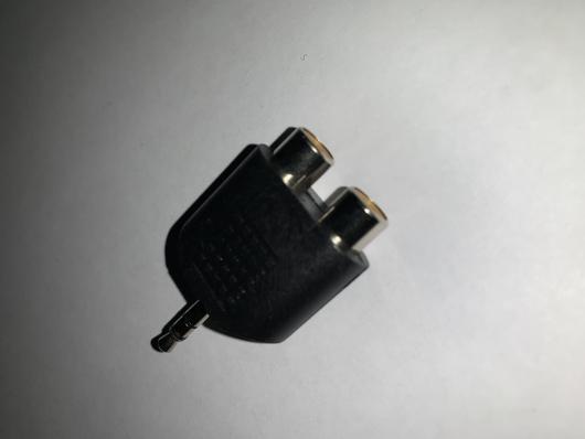 Переходник штекер 3,5мм 3С - 2 гнезда RCA (2-210/APP-133)