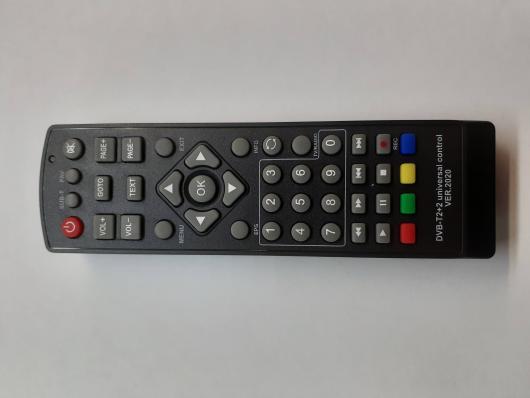 Универсальный пульт Huayu для приставок DVB-T2+2 2020 (черный)