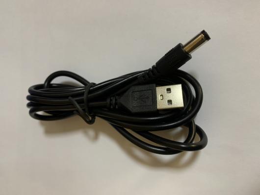 Кабель USB - 5,5мм питание, 1,5м, OT-PCC04/BS-373, черный, силикон