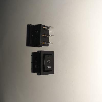 Переключатель (on-off-on), 3C, 220V, С/Ф, KCD1-106/D нейтраль