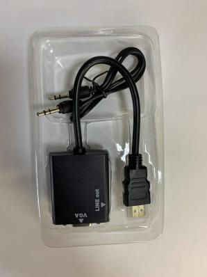 Переходник штекер HDMI - гнездо VGA/3,5мм, OT-AVW21/VHC-2