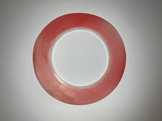 Скотч акриловый двухсторонний, прозрачный,1 мм, 0.2 мм, длина 25 м