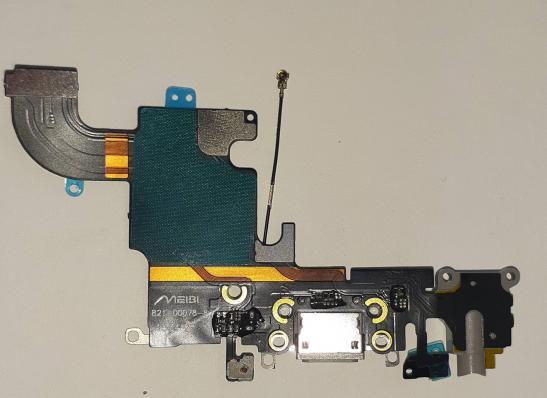Шлейф для iPhone 6S с разъемом зарядки, гарнитуры, микрофоном, серый