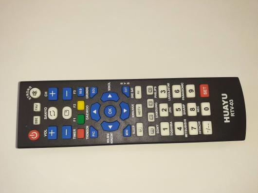 Универсальный пульт Huayu RTV-03 (RTV03) для различных марок TV+ LED+HD