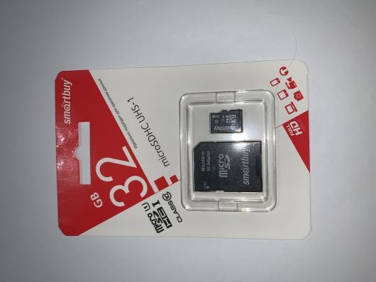 Micro SDHC флеш-карта памяти Smartbuy 32GB