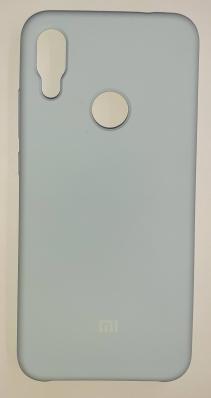Чехол Silicone Cover для Xiaomi Redmi Note 7 (2019) небесно-голубой