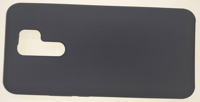 Чехол Silicone Cover для Xiaomi Redmi 9 (2020) темно-синий