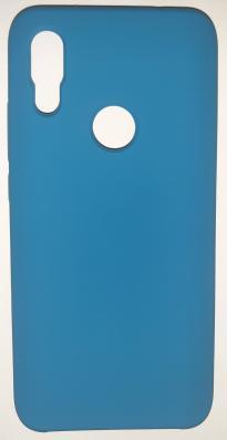 Чехол Silicone Cover для Xiaomi Redmi 7 (2019) синий