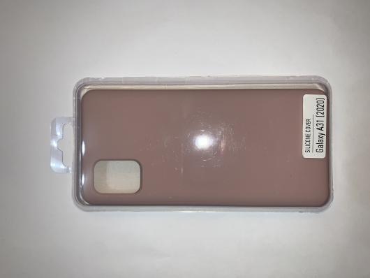 Чехол Silicone Cover для Samsung Galaxy A31, A315F (2020) розовый песок