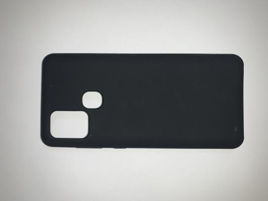 Чехол Silicone Cover для Samsung Galaxy A21S, A217F (2020) черный