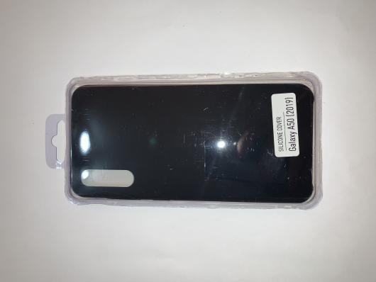 Чехол Silicone Cover для Samsung Galaxy A50, A505F (2019) черный