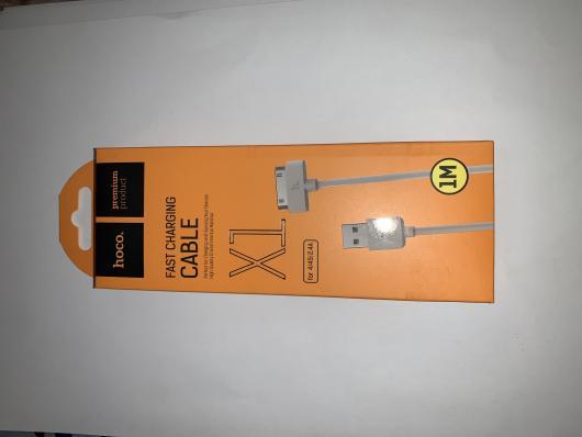 Кабель USB Hoco X1 Rapid для iPhone 4S, iPad 2, 1m, белый