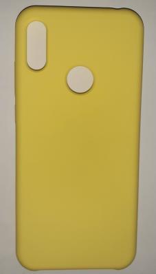 Чехол Silicone Cover для Honor 8A/ Huawei Y6S (2020)/ Honor 8A Prime/ Huawei Y6 ярко-желтый