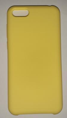 Чехол Silicone Cover для Honor 7S (2020)/ 7A (2018) Huawei Y5 Prime (2018) ярко-желтый