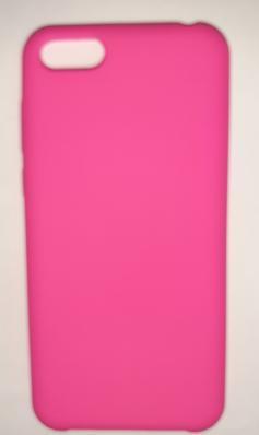 Чехол Silicone Cover для Honor 7S (2020)/ 7A (2018) Huawei Y5 Prime (2018) ярко-розовый