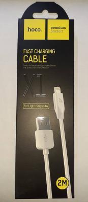 Кабель USB Hoco X1 Rapid Lightning для Apple 2м, белый