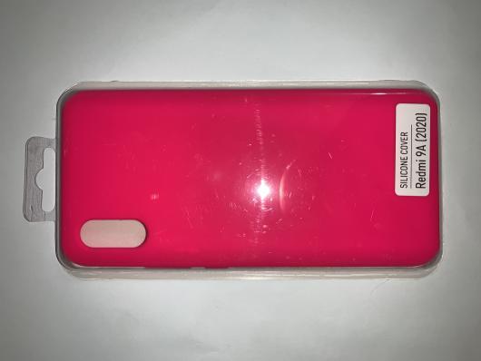 Чехол Silicone Cover для Xiaomi Redmi 9A (2020) яроко-розовый