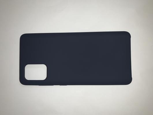 Чехол Silicone Cover для Samsung Galaxy A71, A715F (2019) черный
