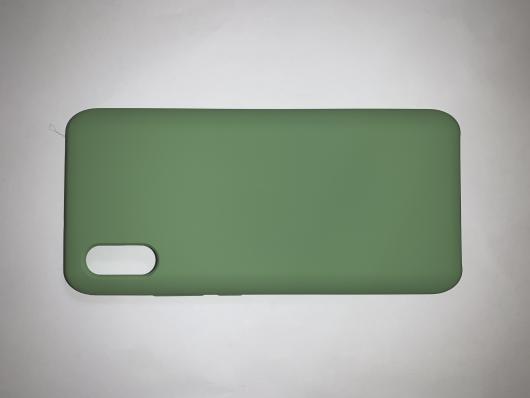 Чехол Silicone Cover для Xiaomi Redmi 9A (2020) зеленый