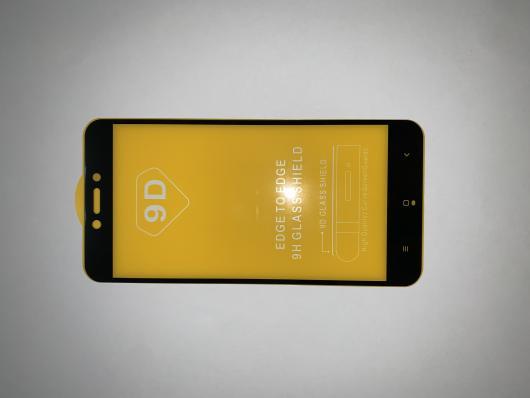 Защитное стекло для Xiaomi Redmi 4X Edge To Edge 9H Glass Shield 9D 0,3 мм (желтая подложка)