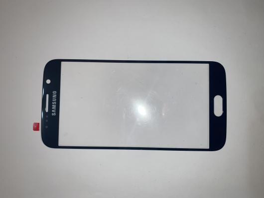 Стекло дисплея для Samsung G920F Galaxy S6 темно-синий