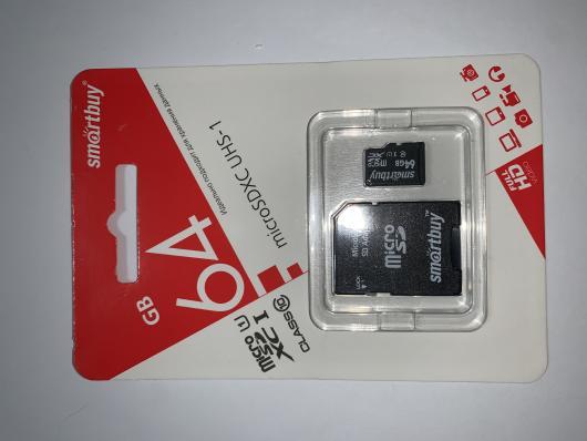 Карта памяти SmartBuy Micro SD 64Гб (class 10) (с адаптером SD)