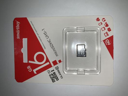 Карта памяти SmartBuy Micro SD 16Гб (class 10)