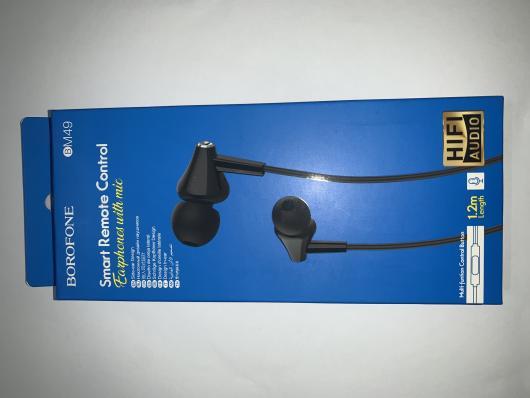 Гарнитура BOROFONE BM49 Player Universal Earphones With Mic (черная)