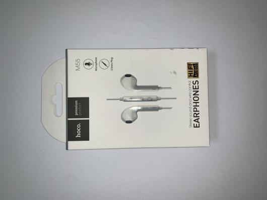 Гарнитура HOCO M55 Memory Sound Wire Control Earphones With Mic (белая)