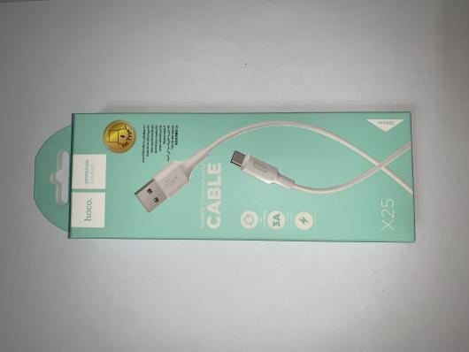 Кабель USB Hoco X25 Soarer Type-C для Android устройств, белый