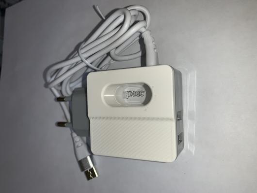 Зарядное устройство (5V, 2,4A, 2*USB, type C) HOCO C75