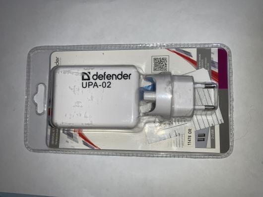 Зарядное устройство DEFENDER 2 USB 5V/1A+2.1A