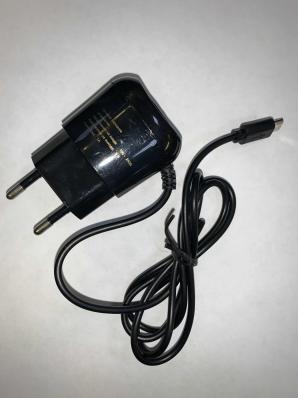 Зарядное устройство сетевое (220 В) RED LINE TCP-1A, кабель micro USB 1 м, выходной ток 1 А, черное