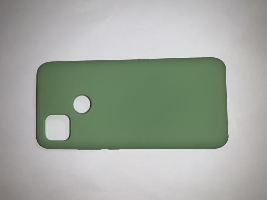Чехол Silicone Cover для Xiaomi Redmi 9C (2020) зеленый