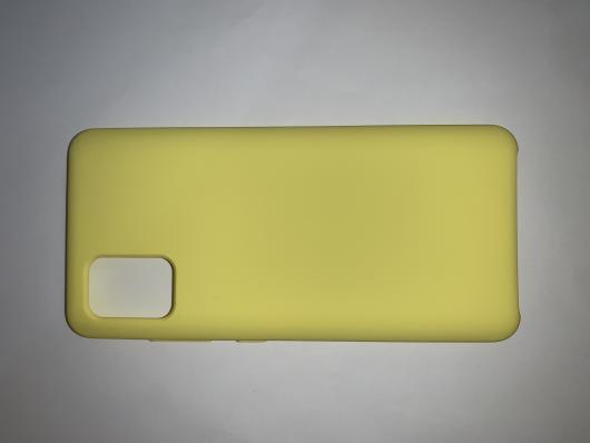 Чехол Silicone Cover для Samsung Galaxy A51, A515F (2019) ярко-желтый