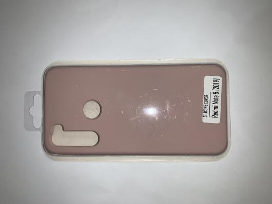 Чехол Silicone Cover для Xiaomi Redmi Note 8 (2019) розовый песок