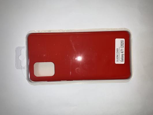 Чехол Silicone Cover для Samsung Galaxy A71, A715F (2019) красный