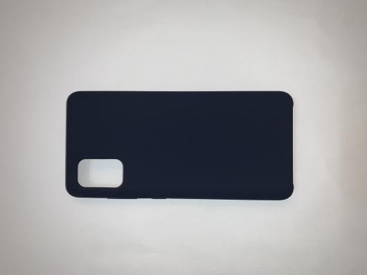 Чехол Silicone Cover для Samsung Galaxy A41, A415F (2020) темно-синий