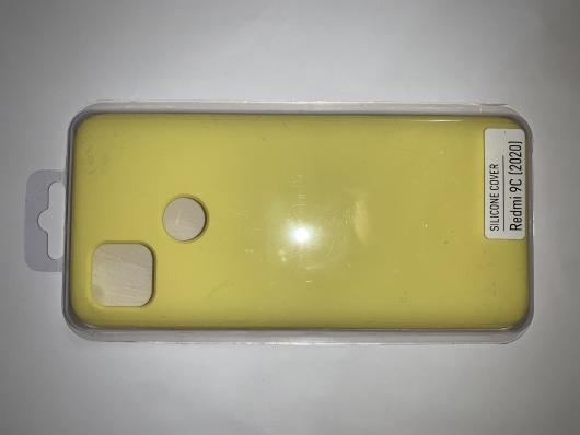 Чехол Silicone Cover для Xiaomi Redmi 9C (2020) желтый