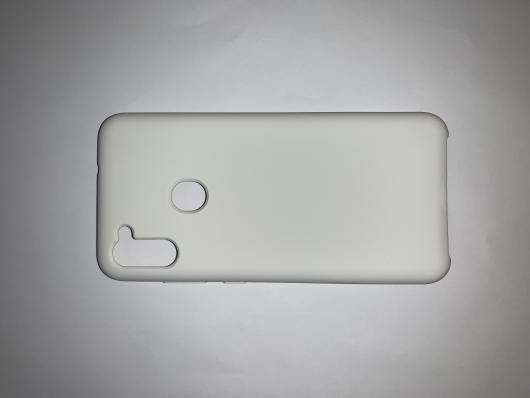 Чехол Silicone Cover для Samsung Galaxy A11, A115F (2020) белый