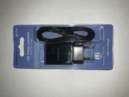 СЗУ BOROFONE BA20A Sharp 1xUSB, 2.1А + кабель MicroUSB, 1м (черный)
