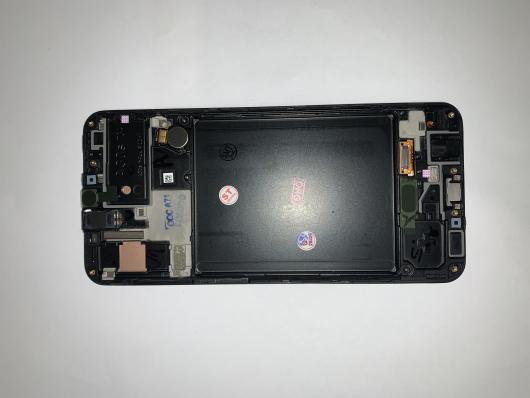 Дисплей Samsung A307FN/DS (A30s) в рамке (черный) cервисный ориг 100% Super AMOLED
