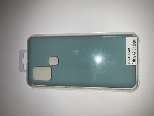 Чехол Silicone Cover для Samsung Galaxy A21S, A217F (2020) синий океан