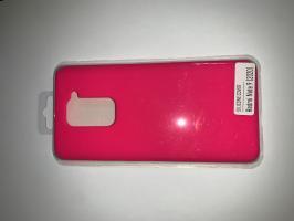 Чехол Silicone Cover для Xiaomi Redmi Note 9 (2020) ярко-розовый