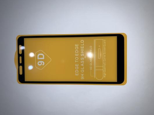 Защитное стекло для Samsung A7 2018 / A750 Full Glue Original Glass 10D 0,3 мм (желтая подложка)
