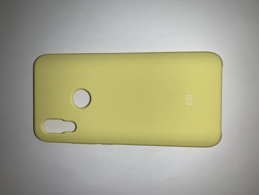 Чехол Silicone Cover для Xiaomi Redmi 7 (2019) ярко-желтый