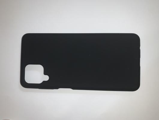 Чехол Silicone Cover для Samsung Galaxy A12, A125F, черный