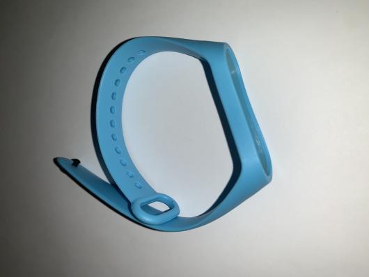 Ремешок силиконовый для Xiaomi Mi Band 4/ 3 голубой