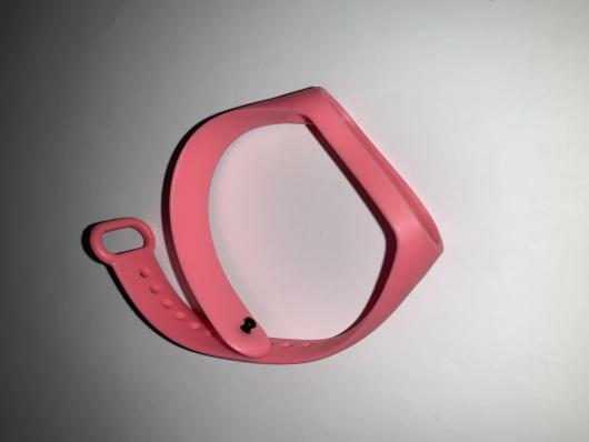 Ремешок силиконовый для Xiaomi Mi Band 4/ 3 розовый