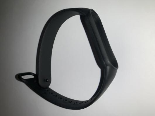 Ремешок силиконовый для Xiaomi Mi Band 5 черный
